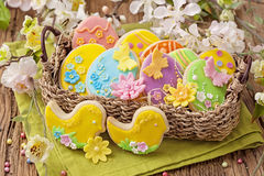 Colorful easter cookies Stock Images
