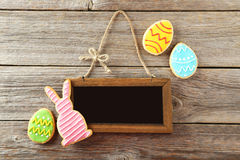 Colorful easter cookies royalty free stock images