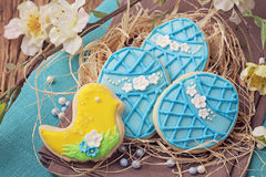 Colorful easter cookies Stock Photo
