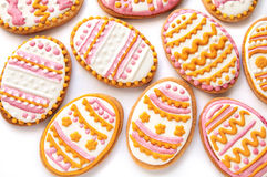 Colorful Easter cookies in the shape of egg Stock Photography