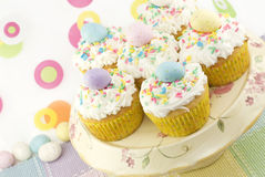 Colorful Easter Cupcakes Royalty Free Stock Images