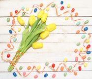 Colorful easter decoration stock images