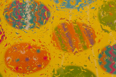 Colorful Easter Egg Background Image. A colorful Easter egg background image with waterdrop design royalty free stock photography
