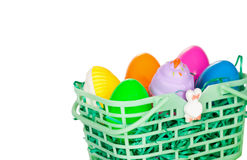 Colorful Easter Egg Basket Stock Images