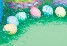 Colorful Easter Egg Border Stock Images