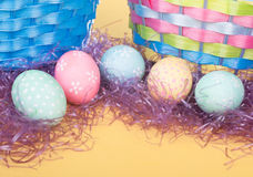 Colorful Easter Egg Border Stock Photos