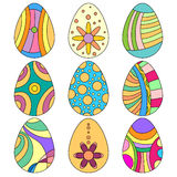 Colorful Easter Egg Collection Stock Photos