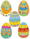 Colorful Easter Egg Collection with Flowers Royalty Free Stock Image