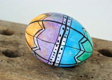 Colorful Easter Egg. Easter egg decorated with permanent markers by a 5 years old Stock Photos