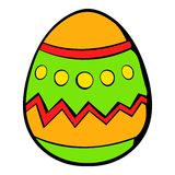 Colorful easter egg icon, icon cartoon Royalty Free Stock Images