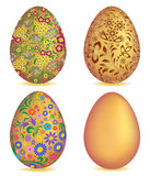 Colorful easter egg isolated on white background Royalty Free Stock Photos