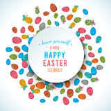 Colorful easter egg isolated on white background. Vector illustration Royalty Free Stock Images