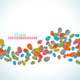 Colorful easter egg isolated on white background. Vector illustration Stock Image