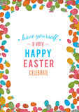 Colorful easter egg isolated on white background. Vector illustration Royalty Free Stock Photo