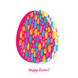 Colorful easter egg scribble background. Stock Images