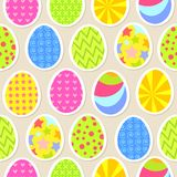 Colorful easter egg seamless background. Vector Royalty Free Stock Image