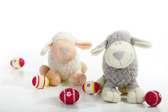 Colorful easter egg with a sheep. In fabric Royalty Free Stock Photo