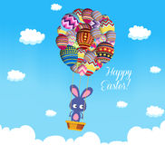 Colorful Easter Egg style Balloons Royalty Free Stock Photo