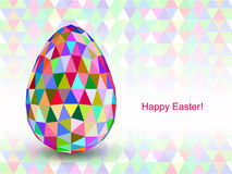 Colorful Easter Egg with triangular faces. Stock Photography