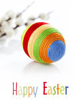 Colorful easter egg on white background Stock Images