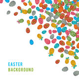 Colorful easter egg  on white background. Vector illustration Stock Images