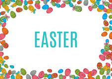 Colorful easter egg  on white background. Vector illustration Royalty Free Stock Image