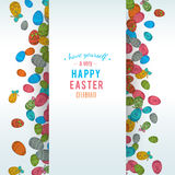 Colorful easter egg  on white background. Vector illustration Royalty Free Stock Photography