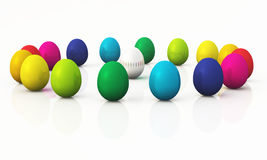 Colorful easter eggs 04. A group of easter eggs in a circle vector illustration