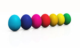 Colorful easter eggs 09. A group of easter eggs in a row vector illustration