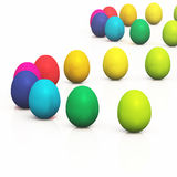 Colorful easter eggs 11. A group of easter eggs in a row royalty free illustration