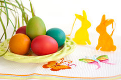 Colorful easter eggs Stock Photography