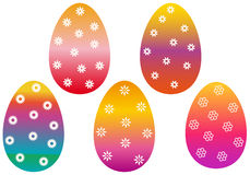 Colorful easter eggs,  Royalty Free Stock Images