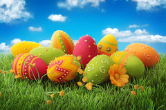Free Colorful Easter Eggs Stock Photography - 22484862