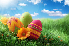 Colorful easter eggs Royalty Free Stock Image