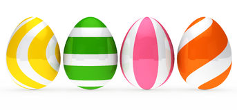 Colorful easter eggs. Are standing in series Stock Photo