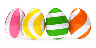 Colorful easter eggs. Are standing in series Royalty Free Stock Photography
