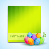 Colorful easter eggs. Vector colorful easter eggs with space for your text Royalty Free Stock Photos