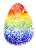 Colorful easter eggs. Watercolor the Colourful Easter egg on a white background Royalty Free Stock Photography