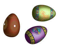 Colorful easter eggs. Isolated on white background Stock Images