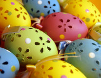 Colorful Easter Eggs. Closeup of colorful beautifully crafted easter eggs Royalty Free Stock Image