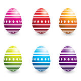 Colorful easter eggs Stock Image