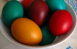 colorful-easter-eggs Royalty Free Stock Photos