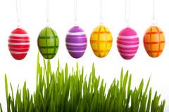 Colorful Easter eggs above Royalty Free Stock Photo