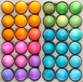 Colorful Easter eggs background. Collection of colorful Easter eggs background Royalty Free Stock Images