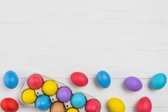 Colorful Easter eggs background stock photos
