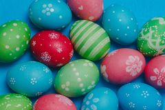 Colorful Easter eggs background Stock Images