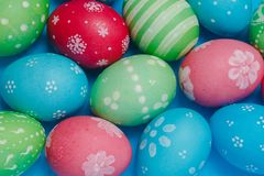 Colorful Easter eggs background Royalty Free Stock Photos
