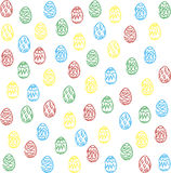 Colorful Easter eggs background. Vector set of colorful Easter eggs vector illustration