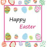 Colorful Easter eggs background Royalty Free Stock Images