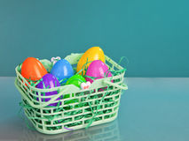 Colorful Easter Eggs Basket Royalty Free Stock Photo